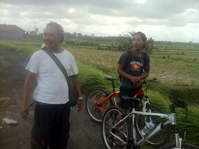Nyoman and and the young assistant - Kode - assigned to me on the Banyan Tree Cycling Tour, Bali.