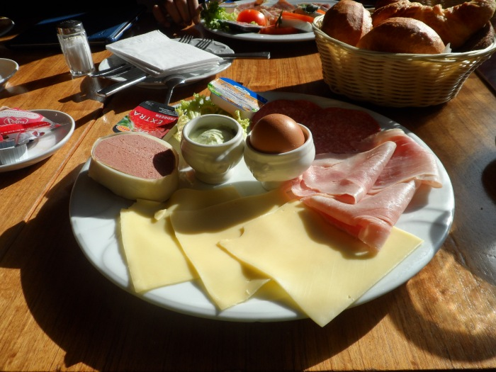 A Continental breakfast in Cologne.