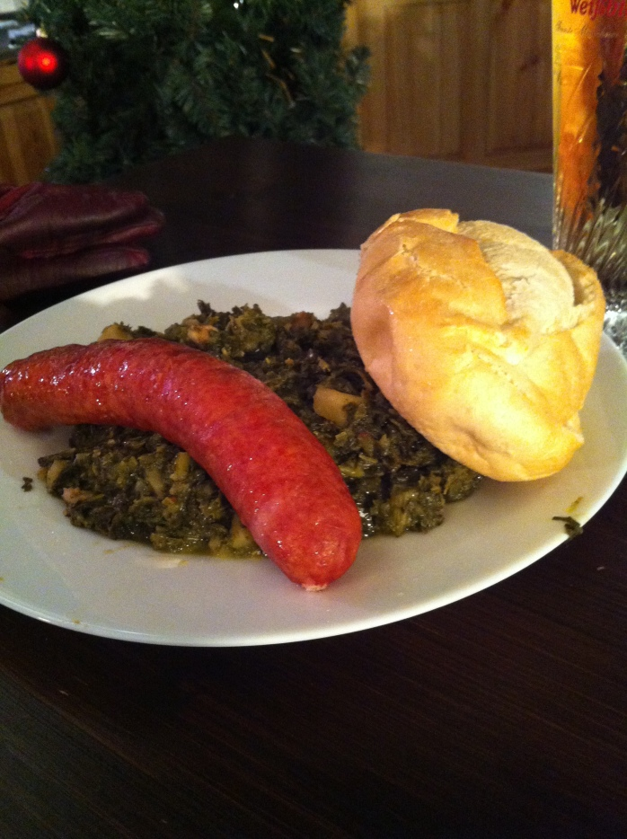 Stodgy food from the German Christmas Market.