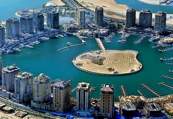Doha in Qatar - The Pearl.