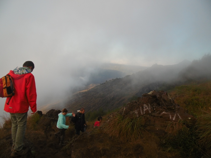The mountain is alive! Mount Batur, I'm coming!