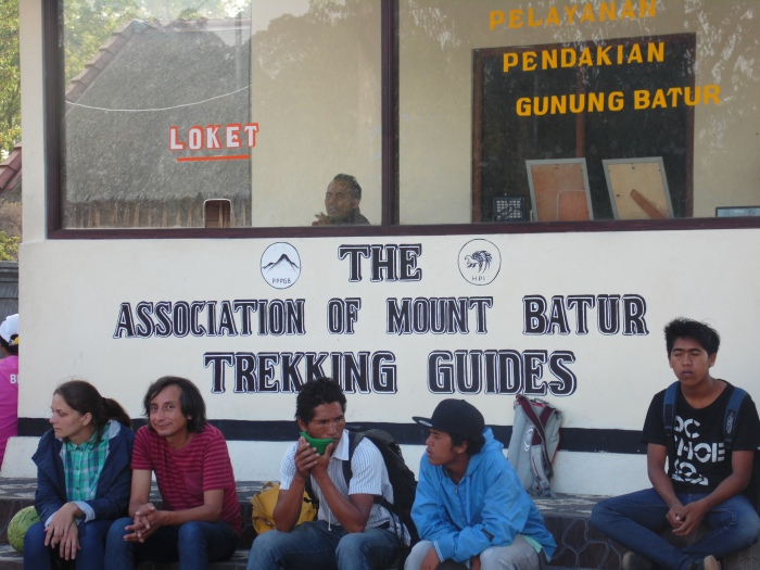 The Association of Mount Batur Trekking Guides, waiting for business.