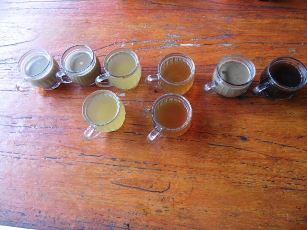 A range of exotic drinks such as Bali Coffee, Vanilla Coffee, Lemon Tea, Ginger Tea, Ginseng Coffee, and Coconut Coffee.