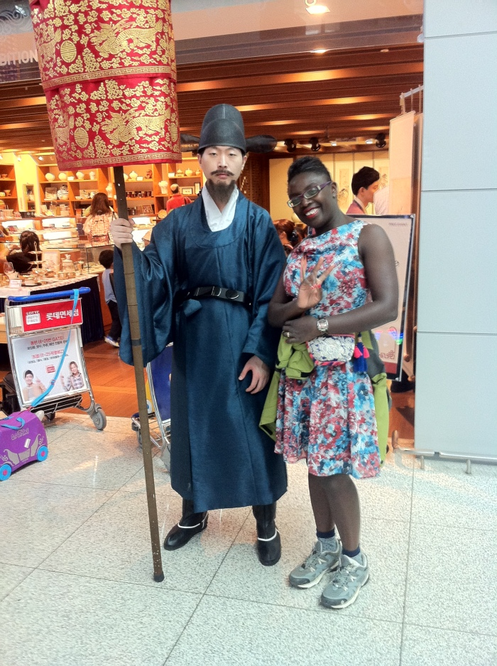 "Myself with a member of the ""Royal Family"" in South Korea."