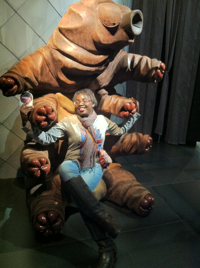 At Micropia in the arms of a germ, Amsterdam.