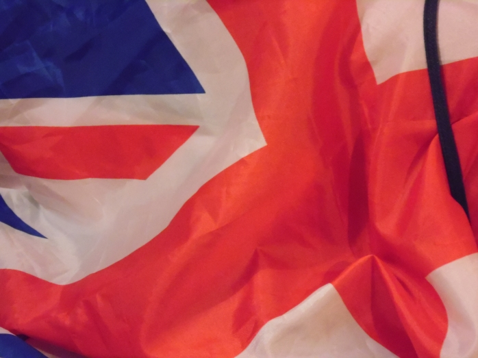Parts of the British flag. My flag!