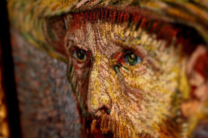 A Van Gogh self-potrait in Amsterdam.
