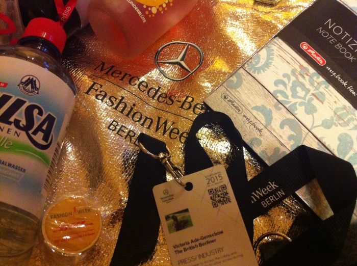 Some items from my goodie bag from  Mercedes-Benz Fashion Week Berlin.