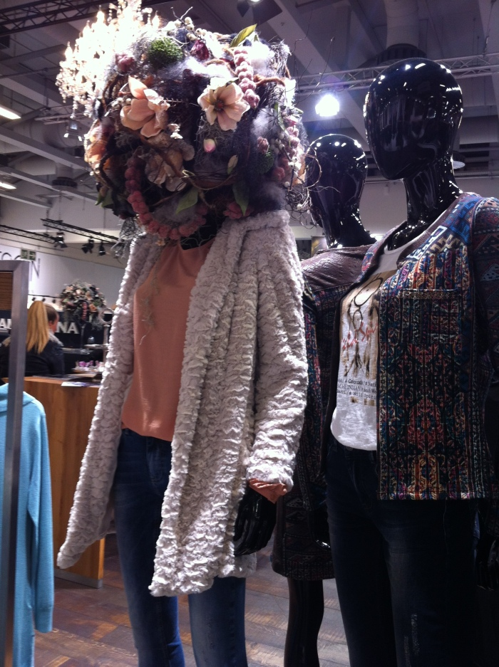 A flower head at SHOW & ORDER - Fashion Week Berlin.