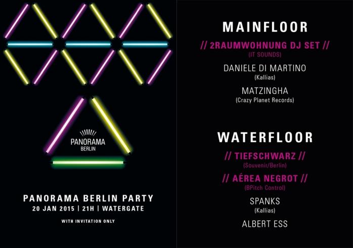 Watergate Flyer Party - Berlin Fashion Week.