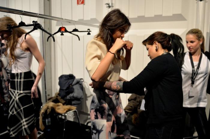 Ioana backstage - Mercedes-Benz Fashion Week Berlin.