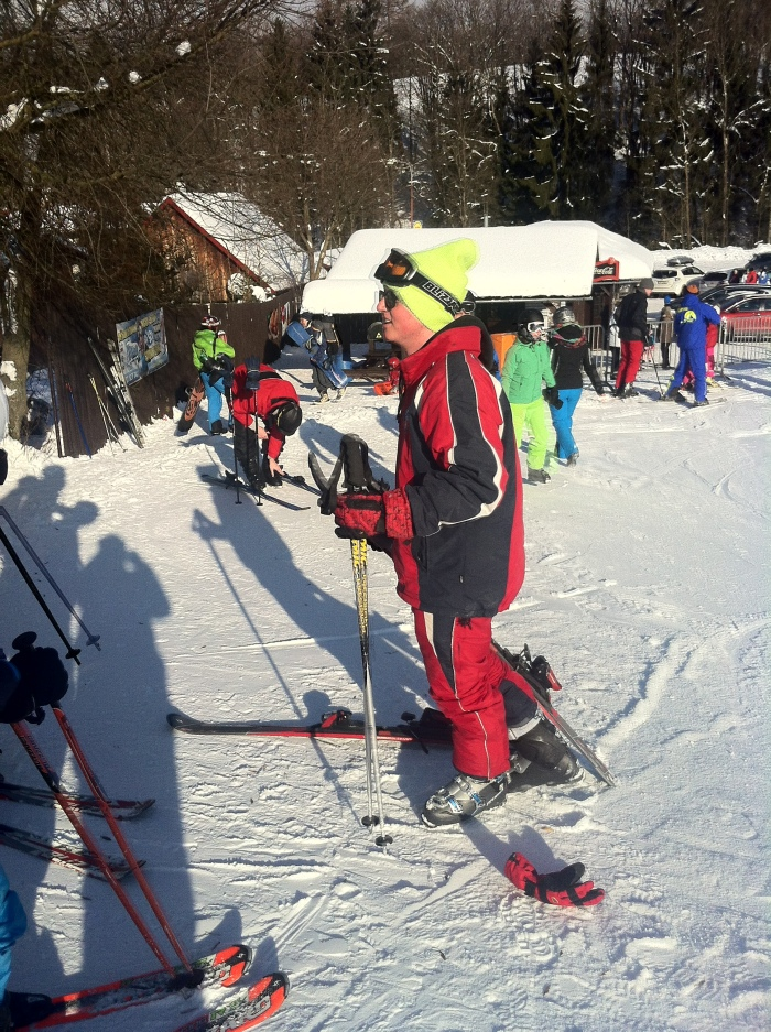 Jakob, my son's skiing instructor.