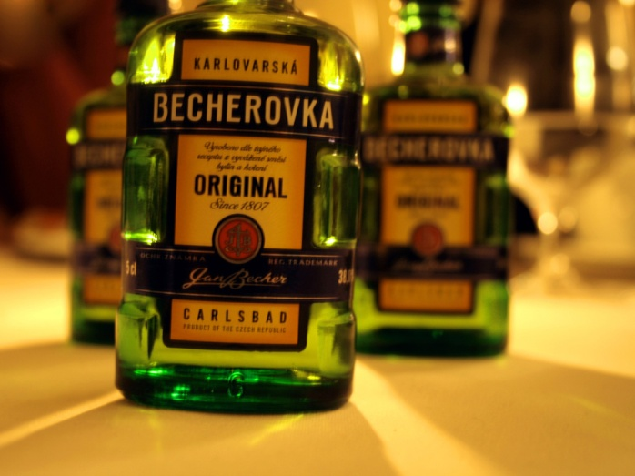 Becherovka - a type of herbal, spicy, aniseed Czech liquor!