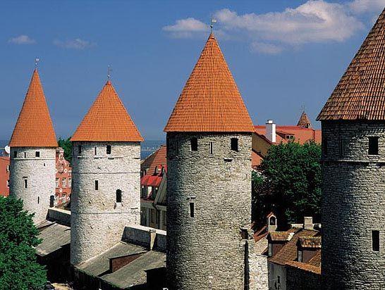 The Medieval Old Town in Tallinn, Estonia.