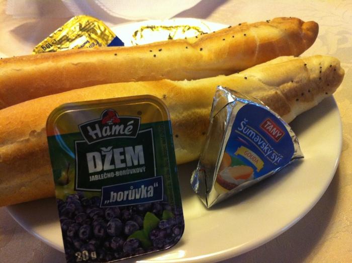 Czech bread, butter & jam!