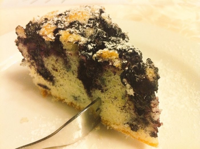Blueberry sponge cake.
