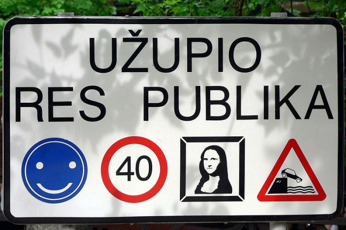 The Independent Republic of Užupis in Vilnius.
