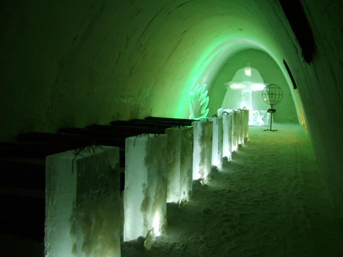 Ice Church. @VisitFinland