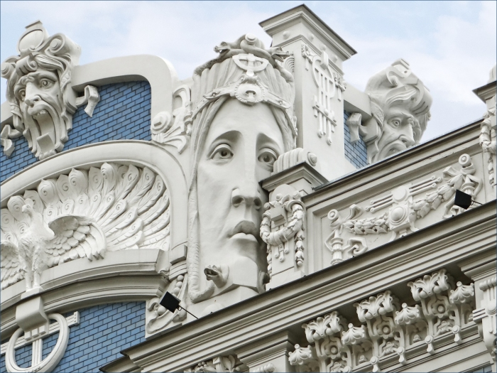 Art Nouveau in Riga, Latvia.
