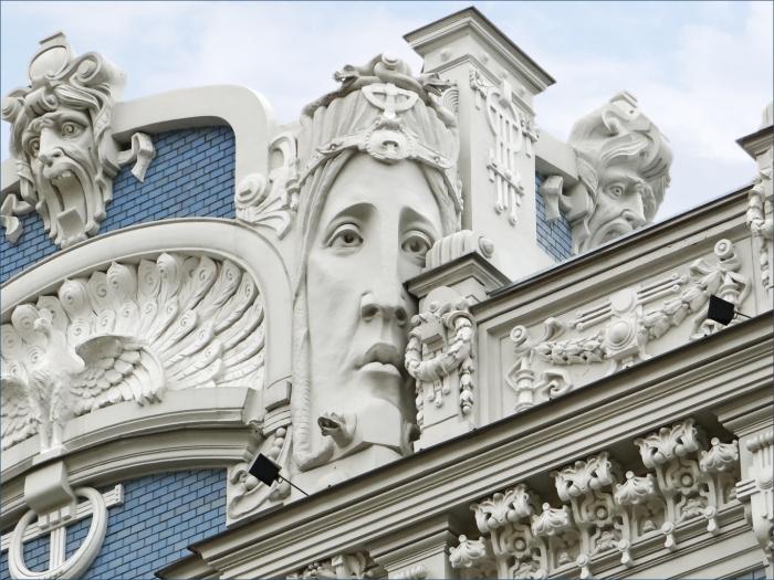 Art Nouveau in Riga, Latvia.