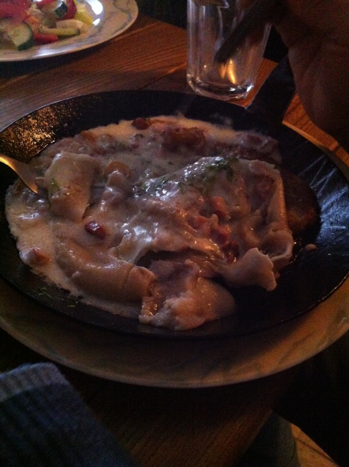 The Lithuanian speciality of a pig's ear!