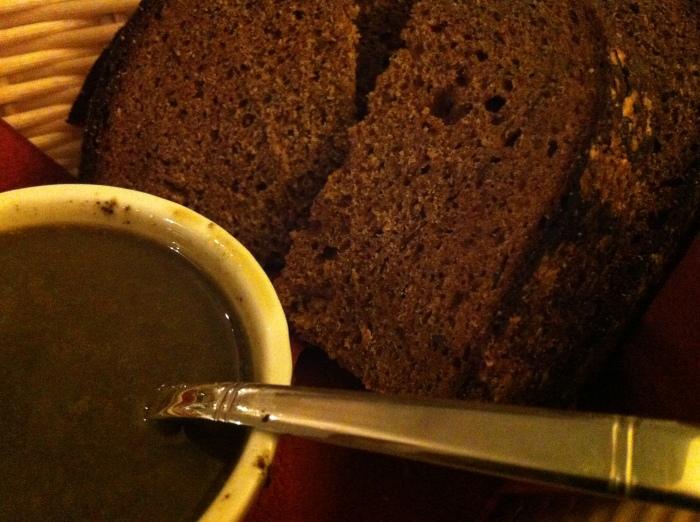 Green soup from Riga, Latvia.