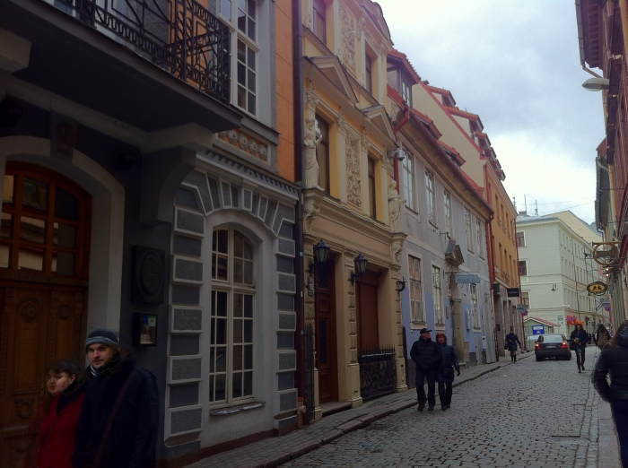 Down the side-streets in Riga, Latvia.