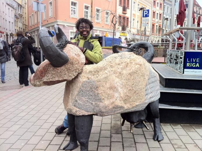 Goating around in Riga, Latvia!