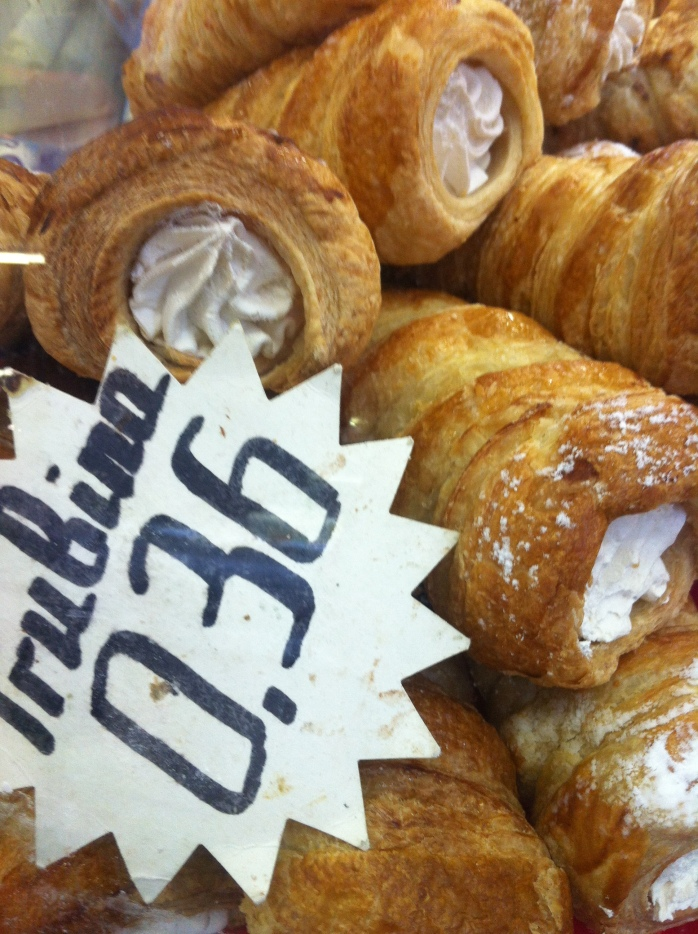Cream puffs in Latvia, Riga.