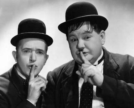 Laurel & Hardy. Shhhhhh!
