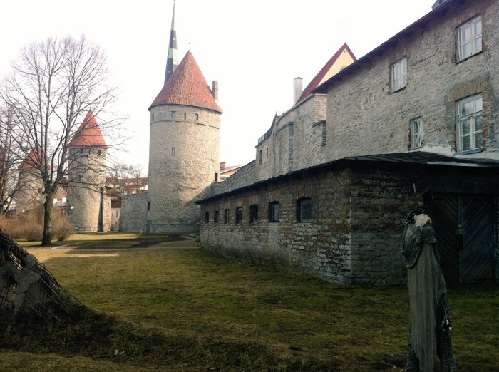 Outside the 15th century Epping Tower in Tallinn, Estonia.