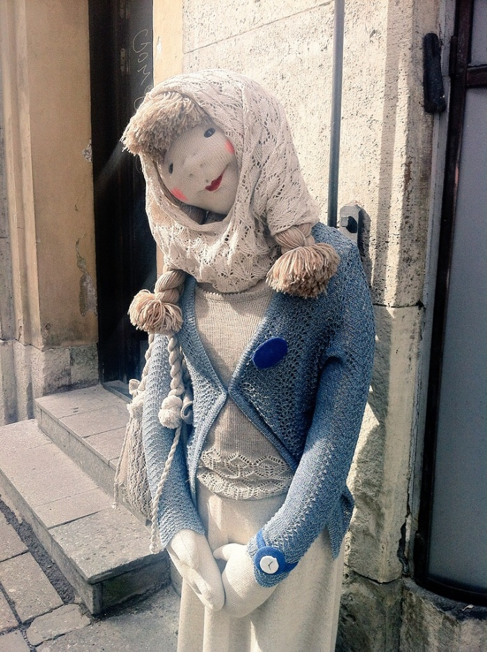 These dolls were a little bit creepy & everywhere in Tallinn, Estonia!