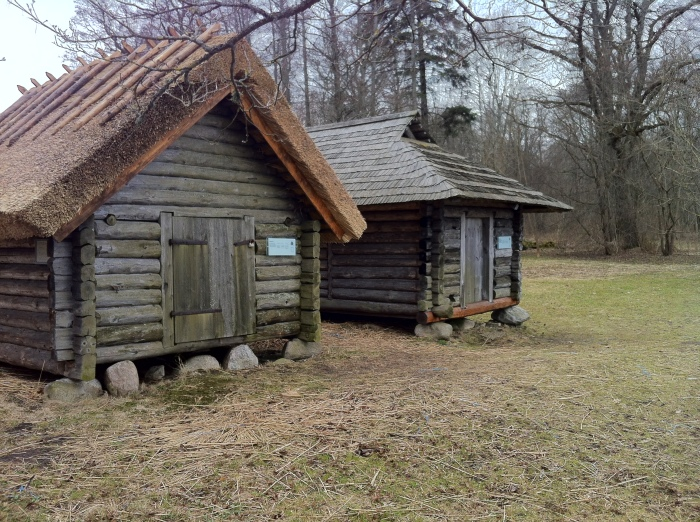 A rural hut at the Estonian Open Air Museum.