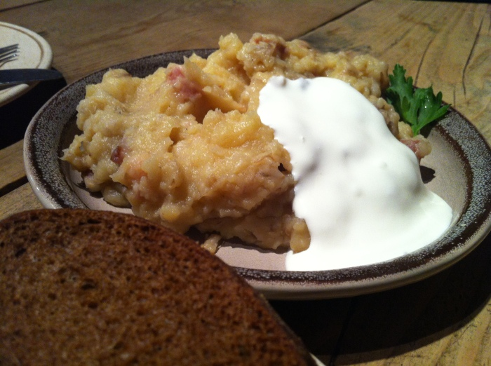 Mulgipuder - A traditional Estonian dish made from mashed potato & barley.