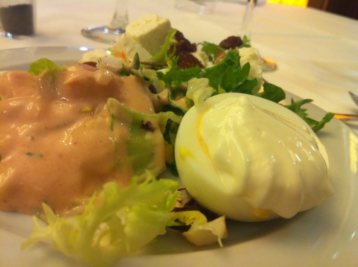 A rich salad as part of a TBEX lunch in Lloret de Mar - Spain.