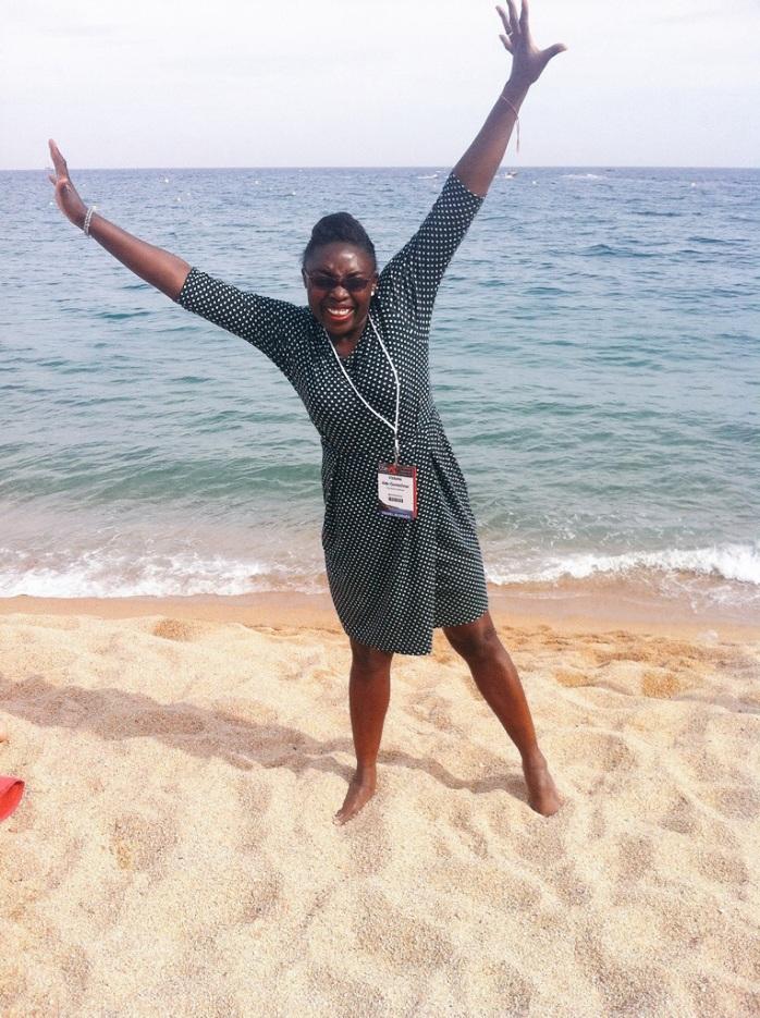 Me on the beach at Lloret de Mar, Spain.