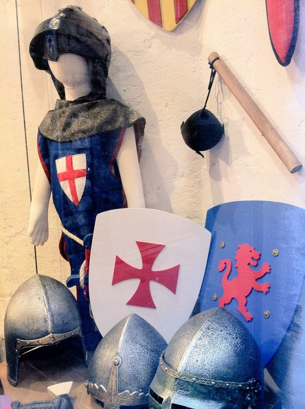 St. George AND the red cross on the streets of Barcelona, Spain.
