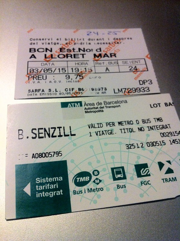 Train & Bus tickets in Barcelona, Spain.