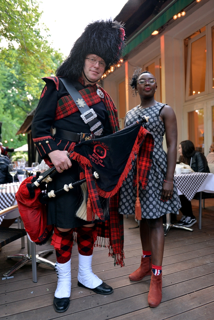 Me with a member of the Black Kilts! ©Pascale Scerbo Sarro