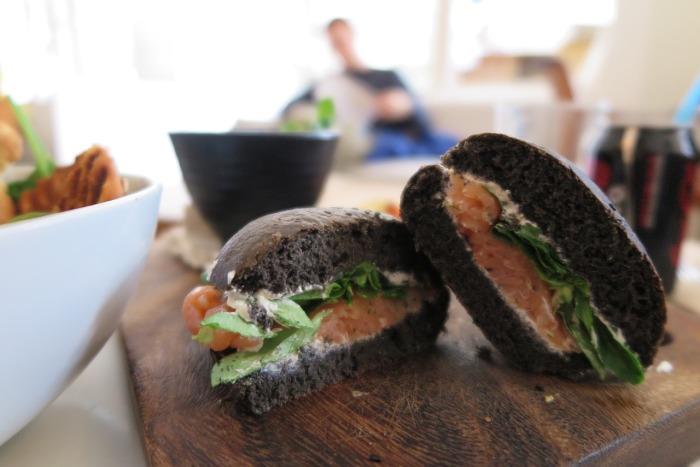 Toast Skagen also known as a shrimp sandwich!