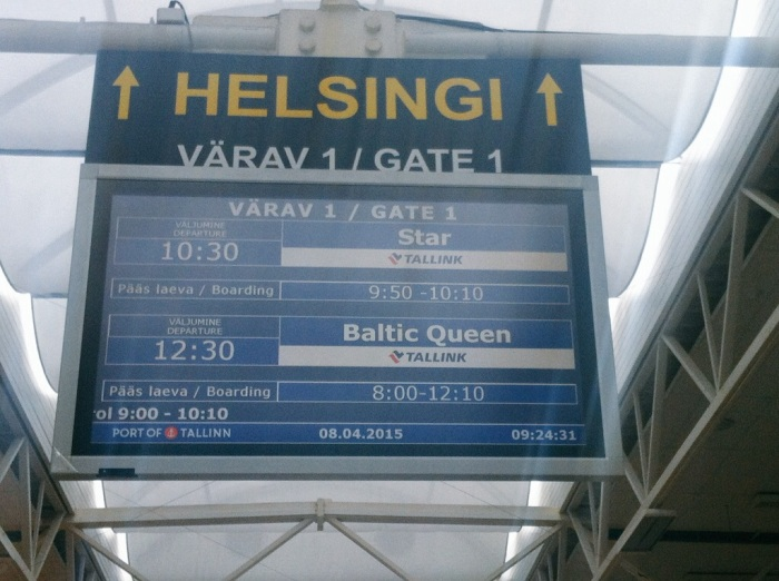 Cruising to Helsinki, Finland.