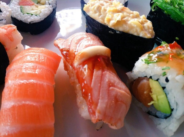 Hang onto your seat! Sushi in Helsinki, Finland.