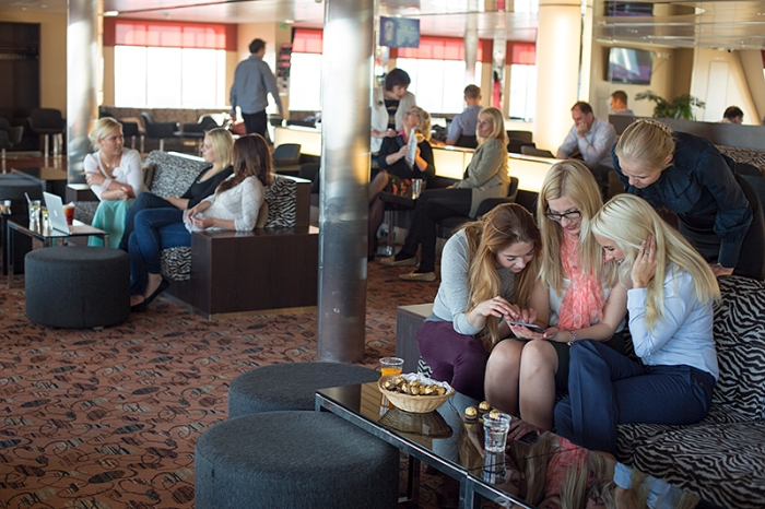 Comfort Class - I bet they had power outlets here LOL! @AS Tallink Grupp
