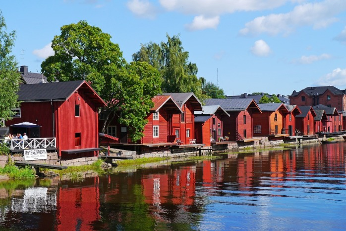 Wooden houses in Finland.