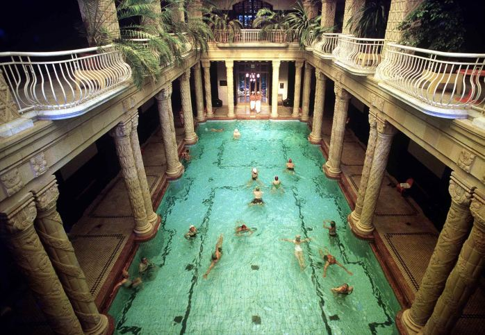 A Hungarian bath in Budapest