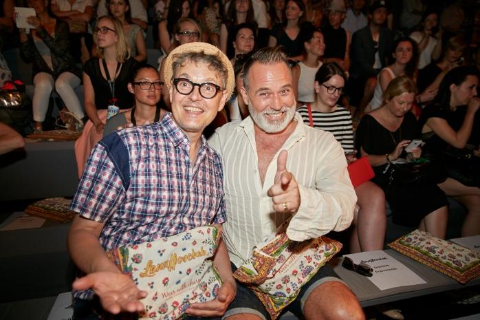 """Rolf Scheider and Frank """"Froonck"""" Matthée at Mercedes-Benz Fashion Week Berlin."""