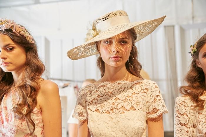 Lena Hoschek at Mercedes-Benz Fashion Week Berlin.