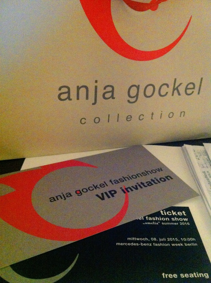 Anja Gockel at Mercedes-Benz Fashion Week Berlin