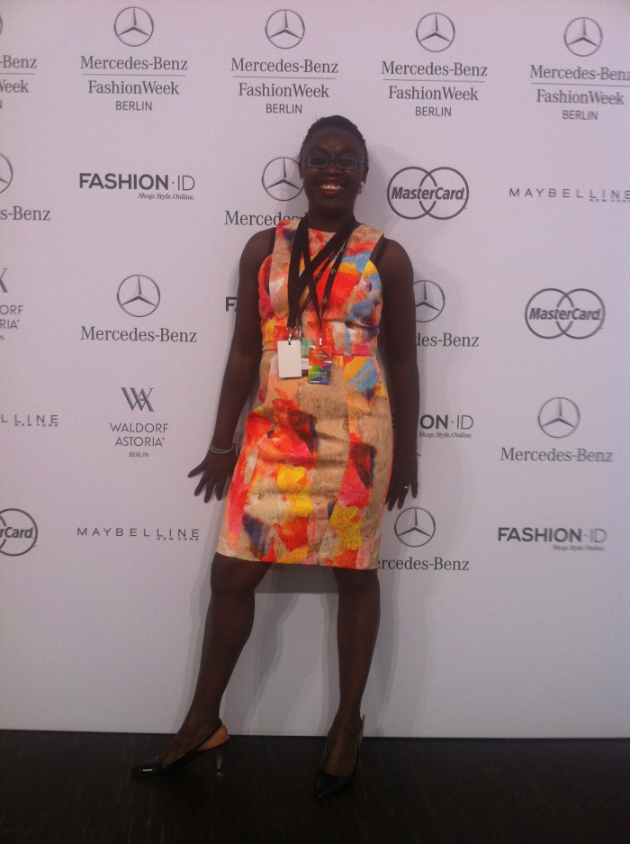 Myself at  Mercedes-Benz Fashion Week Berlin.