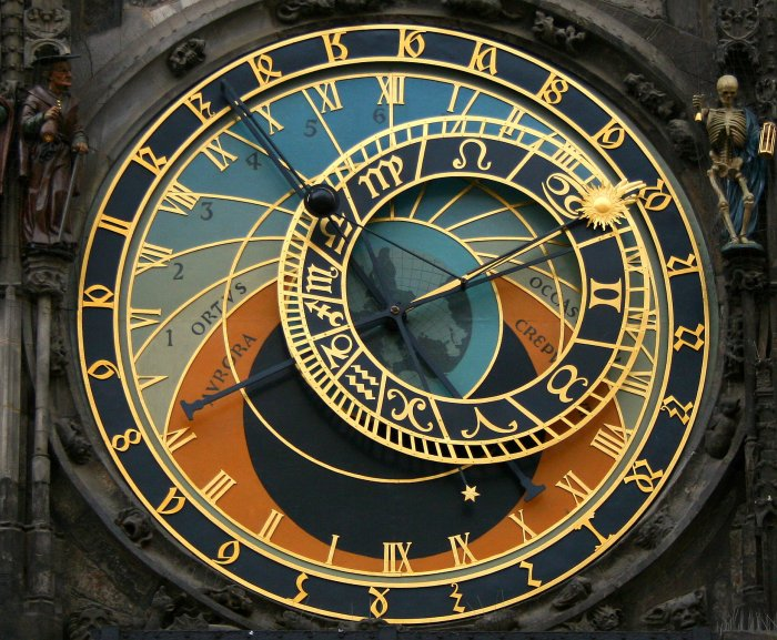 The most wonderful medieval Prague astronomical clock! In the Czech Republic.